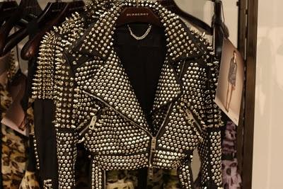 Burberry prorsum studded leather jacket